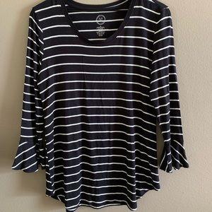 ⭐️3/4 striped tee🌸